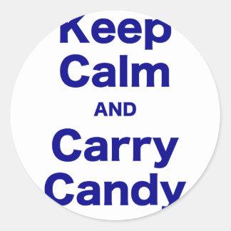Mantenha doces calmos e do carregar adesivos