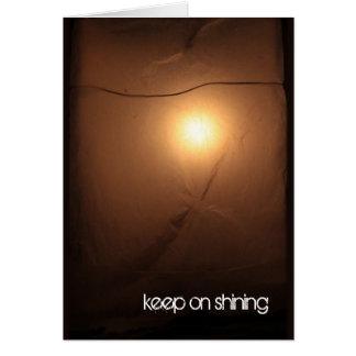 Mantenha em brilhar o cartão inspirador