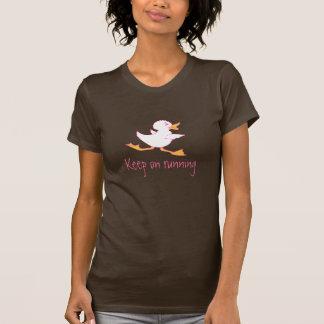 Mantenha em funcionar a parte superior inspirador camiseta