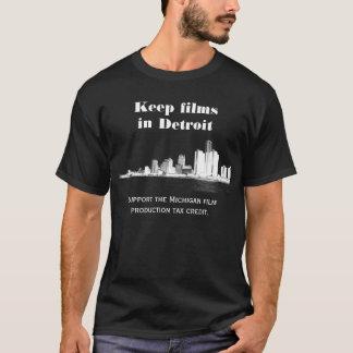 Mantenha filmes em Detroit T-shirt