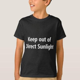 Mantenha fora da camisa direta da luz solar