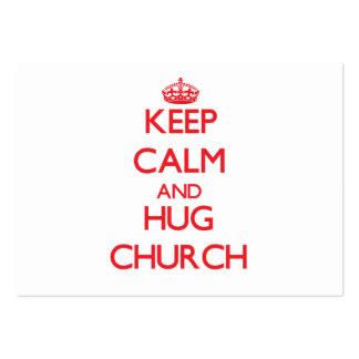 Mantenha igreja calma e do abraço modelo cartão de visita
