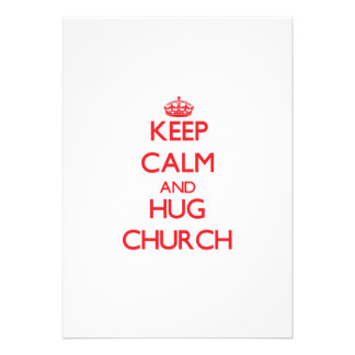 Mantenha igreja calma e do abraço convites personalizado