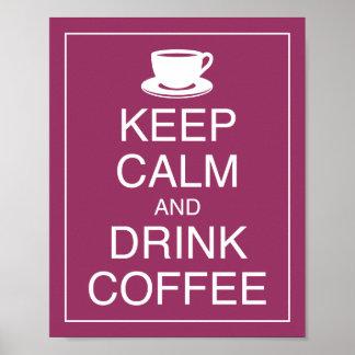 Mantenha impressão calmo e da bebida do café da ar