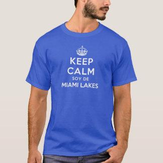 Mantenha lagos calmos De Miami da soja Camiseta