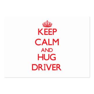 Mantenha motorista calmo e do abraço modelo cartao de visita