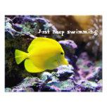 Mantenha nadar a foto inspirador impressão de foto