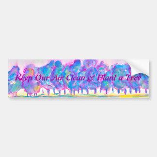 Mantenha nosso ar limpo & plante uma árvore adesivo para carro