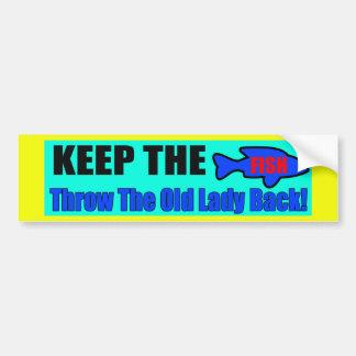 Mantenha o autocolante no vidro traseiro dos peixe adesivo para carro
