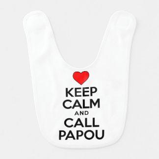 Mantenha o babador calmo de Papou da chamada