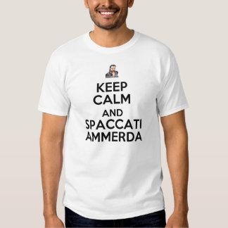 Mantenha o bombardeiro calmo camiseta