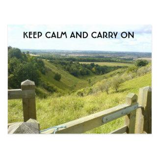 Mantenha… o campo inglês calmo, Sharpenhoe Cartão Postal