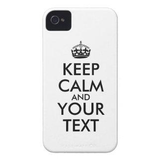 Mantenha o capa de iphone 4 calmo para adicionar capa iPhone 4 Case-Mate