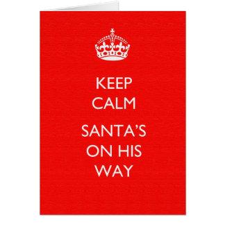 Mantenha o cartão calmo do Natal