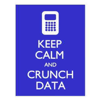 Mantenha o cartão calmo dos dados da trituração