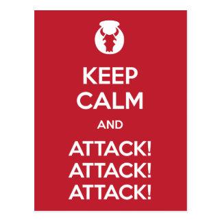 Mantenha o cartão da calma e do Attack3x