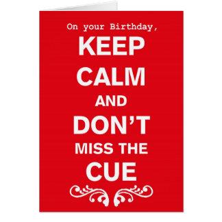 Mantenha o cartão de aniversário tribal calmo da
