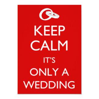 Mantenha o convite calmo do casamento