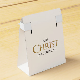 Mantenha o cristo na caixa do favor de Christmas®