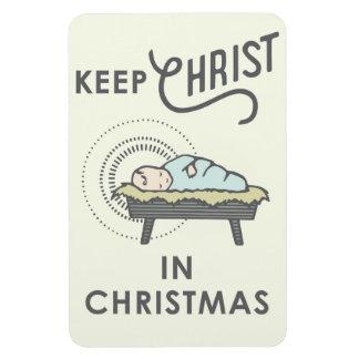 Mantenha o cristo no ímã do carro do Natal