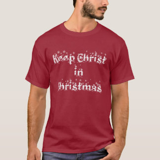 MANTENHA O CRISTO no t-shirt do NATAL Camiseta