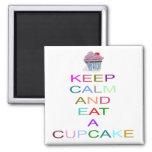 mantenha o cupcake calmo com cereja imas de geladeira
