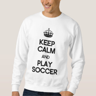 Mantenha o futebol da calma e do jogo moletom