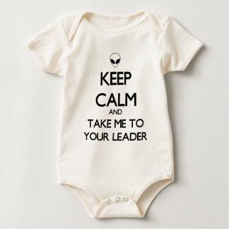 Mantenha o líder calmo body para bebê