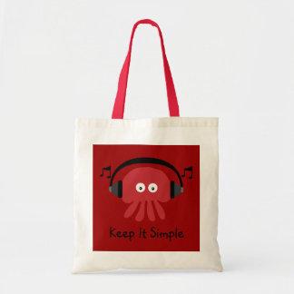 Mantenha-o medusa simples do DJ do vermelho custom Bolsas Para Compras