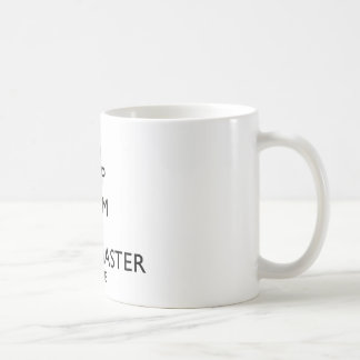 Mantenha o mestre calmo do scrum está aqui caneca de café