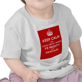 Mantenha o olhar calmo em meus trabalhos YE T-shirts