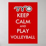 Mantenha o poster dos esportes da calma e do diver