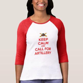Mantenha o Raglan calmo das senhoras Tshirt