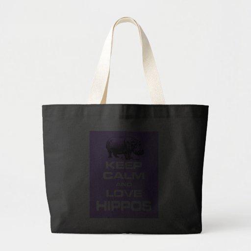 Mantenha o roxo da calma e do design de Hippotamus Bolsa Para Compras