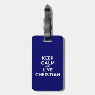 Mantenha o Tag cristão calmo e vivo da bagagem Etiqueta De Mala