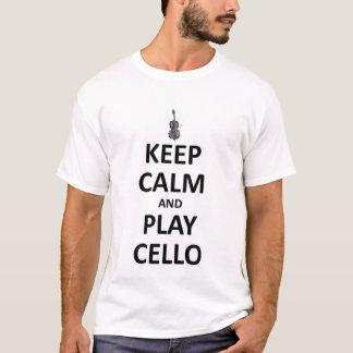 Mantenha o violoncelo da calma e do jogo camiseta