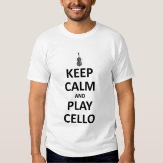 Mantenha o violoncelo da calma e do jogo tshirt
