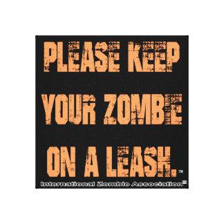 Mantenha o zombi de Ypur em uma trela Impressão Em Tela