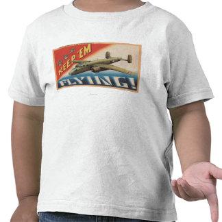 Mantenha-os o bombardeiro Flying/B-25 médio (o T-shirt