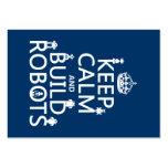 Mantenha os robôs calmos e da construção (em algum cartao de visita