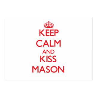 Mantenha pedreiro calmo e do beijo cartões de visitas