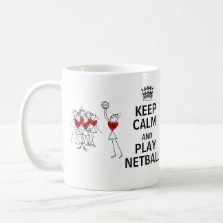Mantenha posições do Netball da calma e do jogo Caneca De Café