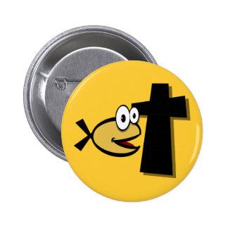 Mantenha seus olhos na cruz botons