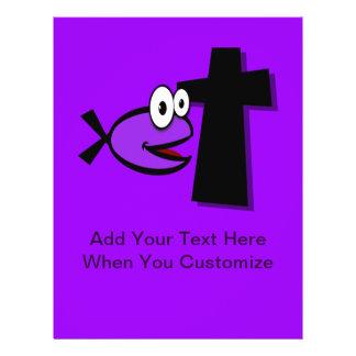 Mantenha seus olhos na cruz panfletos personalizados