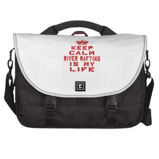 Mantenha transportar de rio calmo é minha vida maletas para notebooks
