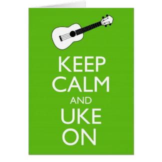 Mantenha Uke calmo em (o trevo) Cartão Comemorativo