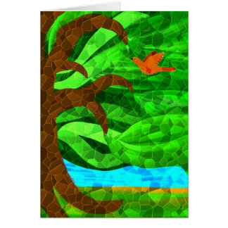 Mantenha uma árvore verde em seu cartão do coração