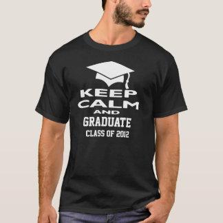 Mantenha uma classe calma e graduada da camiseta