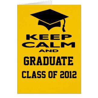 Mantenha uma classe calma e graduada do cartão