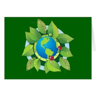 Mantenha verde para o Dia da Terra Cartão